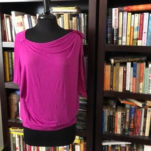 Tops - 💗Raspberry-Colored, Asymmetrical Going-Out Top